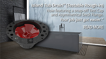Island Tub Drain™ Freestanding Tub Rough, bath tub drain, freestanding tub drain, Island Tub Drain