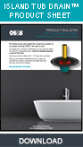 Freestanding Bath Tub Drain, Island Tub Drain