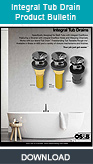 Integral Tub Drain Product Bulletin